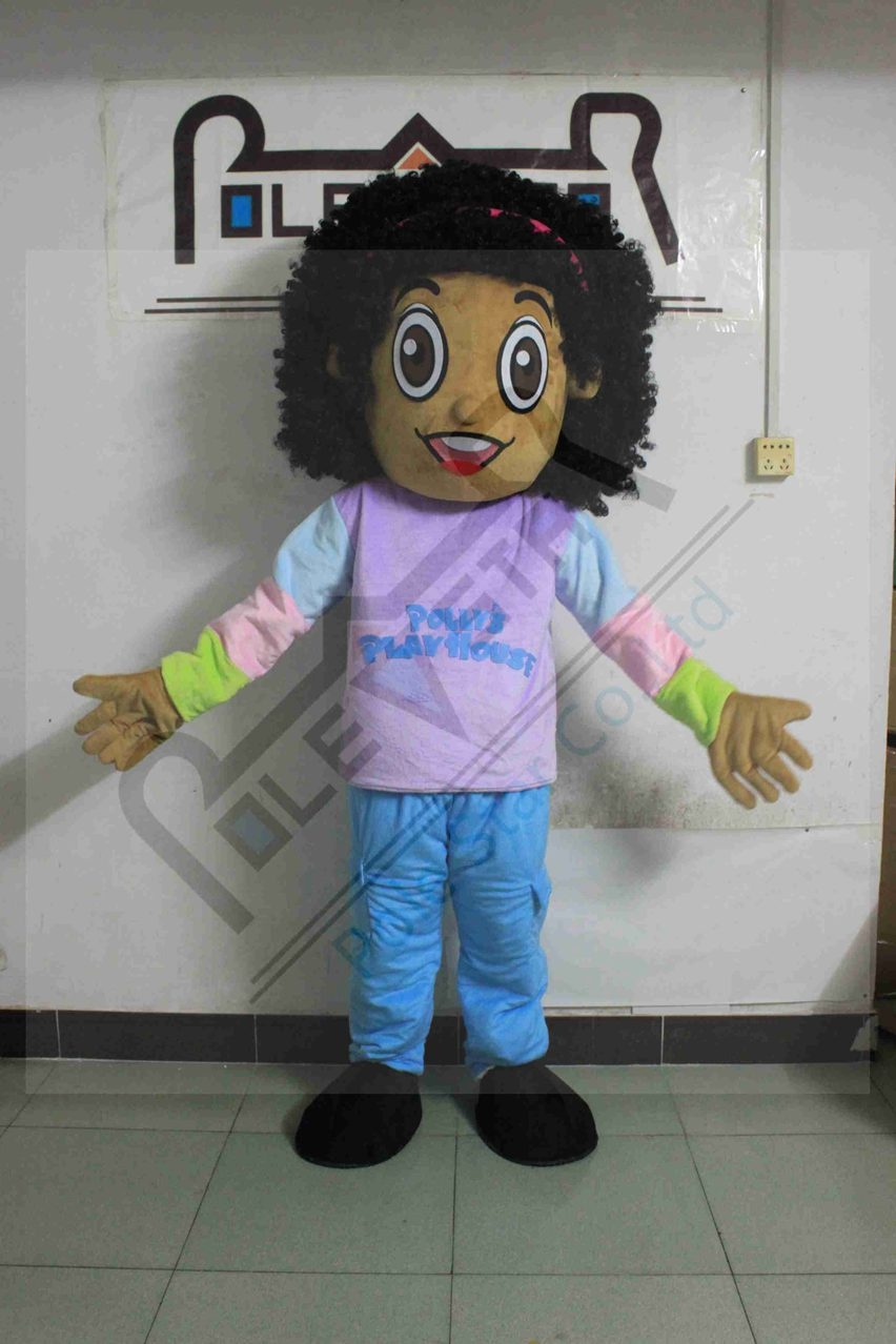 custom brown face girl mascot costumes