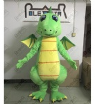 Little fly dragon mascot costumes green dinosaur costumes