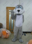 grey plush wolf mascoct costumes dog
