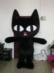 2.6M inflatable black cat walking actor inflatable mascot