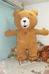 inflatable plush brown bear mascot costumes teddy bear