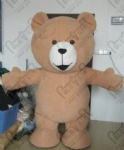 2M inflatable plush teddy bear mascot costumes brown bear