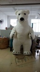 2.6M inflatable polar bear mascot costumes