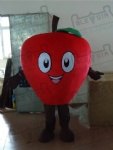 red and green apple mascot costumes fruit