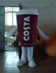 coffee cup mascot costumes custom brand mascot design OEM