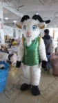 Green vest goat mascot costumes Chinese new year cosplay