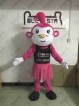 Tutu dress pink monkey mascot costumes OEM print logo dancer animal