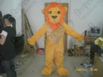 orange hair lion mascot costumes