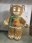 green scarf ginger bread mascot costumes biscuit